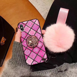 Wholesale Fashion Phone Case with Rhinestone Air bag Kickstand for iphone S plus XR Cellphone Cover