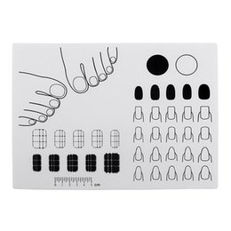 Discount mat practice - NEW-Silicone Nail Art Stamping Mat Practice Coloring Pad Polish Palette(White)