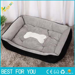 Wholesale Warm Corduroy Padded Dog Bed Washable Pet House Mat Perros Soft Sofa Kennel Dogs Cats House For Large Dogs