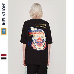 5b73da478 Inflation 2019 New Summer High Street T Shirt Men Clown Printed Funny Tshirt  Men's Cotton Hip Hop Clothing Tees Loose 91337s C19041901