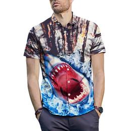 $enCountryForm.capitalKeyWord Australia - 2019 Summer 3D Print Shark Cobra Dog Hawaiian Shirts Men Short Sleeve Floral Dress Shirts Unique Medusa Shirt Fashion Shirt