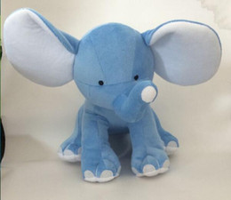 25cm Kids Plush toys Toddler Soft Cartoon Plush Animal Elephant toys big ears for birthday gift 3Colors from flowers for wedding car decoration suppliers