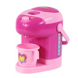 Pink Toy Kitchen Set Australia - Children's Mini Kitchen Toy Set Simulated Small Appliances Playhouse Toy Mini Drink Machine