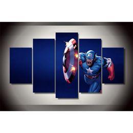 $enCountryForm.capitalKeyWord Australia - Captain America -3,5 Pieces Home Decor HD Printed Modern Art Painting on Canvas (Unframed Framed)
