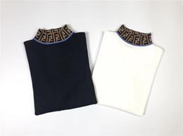 White cotton turtle neck online shopping - 18ss luxury Designer FF Turtleneck Cashmere Sweater Women Men Casual Jumper Sweatshirts Sweaters Streetwear Pullovers Outdoor Hoodies F
