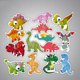$enCountryForm.capitalKeyWord Australia - New 14Pcs Set Cartoon Anime Dinosaur Sticker For Toy Luggage Suitcase Laptop Decal Fashion PVC Waterproof Stickers For Kids Car-Sticker