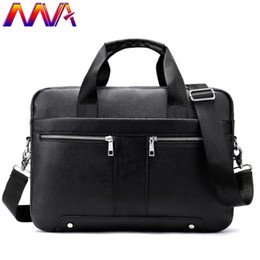 genuine leather notebook NZ - MVA Genuine Leather Men`s Briefcase Newly Arrival Men`s Vintage Handbag Notebook Computer Shoulder Bag Casual Men Briefcase