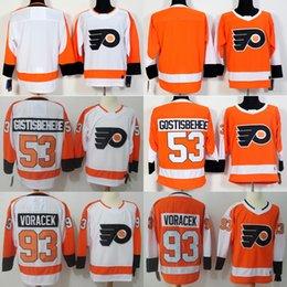 $enCountryForm.capitalKeyWord Australia - Men Philadelphia Flyers #53 Shayne Gostisbehere #93 Jakub Voracek white orange blank ice hockey jerseys adult size mix order free shipping