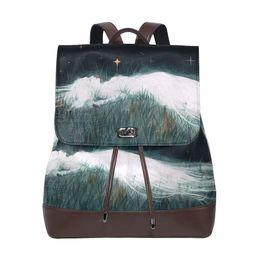 Korean Men Leather Bag Australia - Wholesale Leather Backpack Sling Purse Shoulder Bag for Women Fashion Men Women Cheap Knapsack Korean Stylish Shoulder Bag