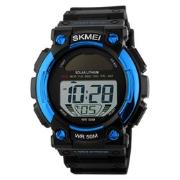 China SKMEI Solar LED Outdoor Sports Watches Men Shock Resistant Multifunctional Watch 50M Waterproof Digital Mens Wristwatches 1126 suppliers