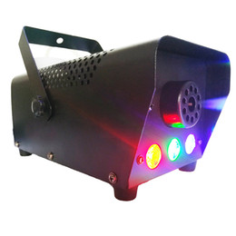 LED Stage Fog Machine RGB Color Smoke Ejector LED Professional DJ Party Stage Light Christmas Party on Sale