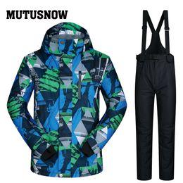 Winter Snow Suits Australia - MUTUSNOW Men Snowboard Suit New Windproof Waterproof Super Warm Thick Snow Pants And Jacket Ski Clothes Set LANCH Winter Ski Suit Men Brands