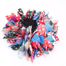 $enCountryForm.capitalKeyWord Australia - 100 Pcs Lot Random mix model korean style Hair rubber bands colorful fabric cloth elastic Rabbit ears hair bands wholesale for women girls