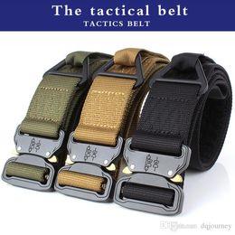 $enCountryForm.capitalKeyWord Australia - Adjustable Men Tactical Belt Heavy Duty Waist Belt Nylon Army Tactical Belts with Metal Buckle Hunting Accessories