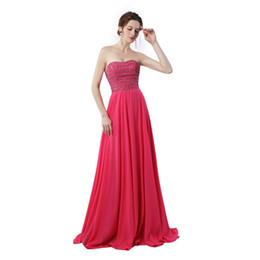 $enCountryForm.capitalKeyWord UK - Dubai Evening Dresses Vestido Longo Plus Size 2019 Rhinestones Long Prom Dress Hot Pink Chiffon Party Dresses