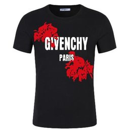 Wholesale french clothing sizes for sale – custom French luxury designer clothing men s T shirt women s high quality hip hop T shirt print givenc rose men s T shirt size s xl
