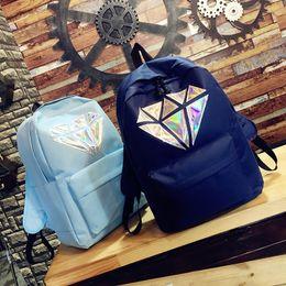 Exo Backpacks Australia - New arrival exo laser backpack Korean Canvas Backpack Teenage Girls Fashion EXO Bags kpop Harajuku Rucksacks For School