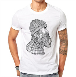 52c9ba72 100% Cotton Sketch Beard Man Bird T-shirts Men Summer Tops Tee Shirt Men  O-neck Short Sleeve Fashion Tshirts Plus Size