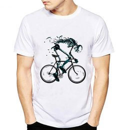 $enCountryForm.capitalKeyWord Australia - T shirt Men New Worn out Bikes Tshirt Funny Skeleton bicycle Design Short Sleeve O-neck Tshirts Fashion Skull male hipster Tops