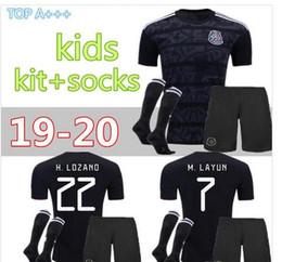 c3ad3262633 Kids kit+scoks 2019 Mexico Gold Cup Soccer Jerseys Home Black Youth Boys  CHICHARITO Camisetas de futbol H.LOZANO DOS SANTOS VELA RAUL Shirt