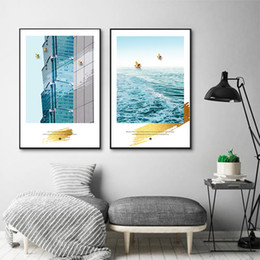 $enCountryForm.capitalKeyWord Australia - Nordic Sea Modern Building Art Print Europe Travel Canvas Paintings Vintage Kraft Posters Coated Wall Stickers Decor Family Gift