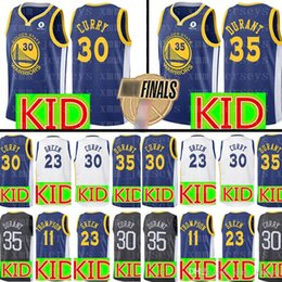KID Golden State 30 Stephen Curry Warriors Jersey Youth 35 Kevin Durant 11  Klay Thompson 23 Draymond Green Basketball Jerseys 961ad084e