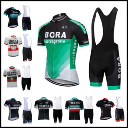 BiB shorts Black online shopping - 2019 best seller BORA Team Summer Cycling Jersey set Bicycle shirts bib shorts suit men cycling clothing Maillot Ciclismo Hombre