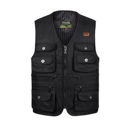 $enCountryForm.capitalKeyWord Australia - Men Large Size XL-4XL Motorcycle Casual Vest Male Multi-Pocket Tactical Fashion Waistcoats High Quality Masculino Overalls vest T190828
