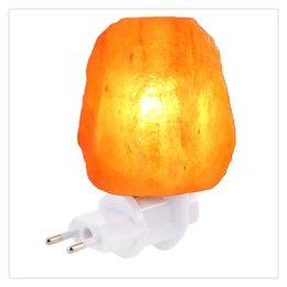 New Himalayan Salt Lamp Natural Himalayan Pink Salt Night Light Sea Salt Crystal Light With Wood Basket And Stepless Dimmi
