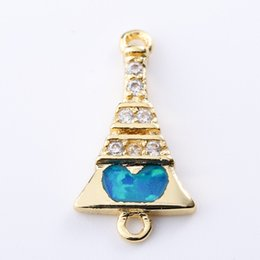 $enCountryForm.capitalKeyWord Australia - Singreal Opal Micro Pave Tower Heart Charms Bracelet necklace Choker Pendant connectors for women DIY Jewelry making accessories