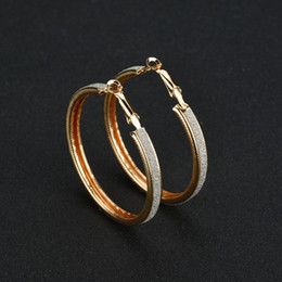 $enCountryForm.capitalKeyWord Australia - Big Hoop Earrings Gold Silver Color Hoop Earring For Women Men Ear Rings Clip Colored Circle Earrings