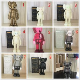 Lay Figure NZ - 10pcs 9 Color 20CM kaws smlll lie Plastic Doll toys 2019 New kids Kaws BBF Cartoon Animee Gift Figure Toy