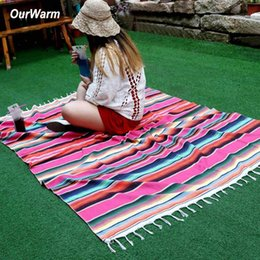 $enCountryForm.capitalKeyWord NZ - Ourwarm Handmade Mexican Cotton Blanket Wedding Table Cloth Mexican Style Blanket Travel Camping Baby Play Bed Cover 150x215cm T8190620