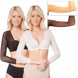 291a7920fbaee Amazing Arm Sleeve Shapewear Sexy Crop Tops Slimming Control Plus Size  Seamless Arm Shapewear Shaper Fashion Women Shapers