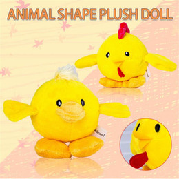 White Shorts Australia - Animal Shape Plush Doll Chick Duckling Simulation Vocal Cartoon Short Plush Toy for Kids Adult Birthday Easter Party Decoration