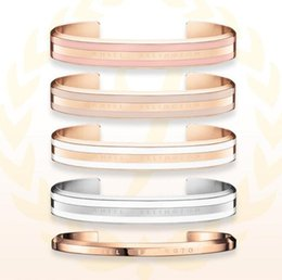 $enCountryForm.capitalKeyWord NZ - New DW Bracelets Cuff Rose Gold Silver Bangle Jewelry 2018 New Products Custom Engrave stainless steel Bracelet Women and Men Bracelet
