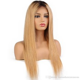 $enCountryForm.capitalKeyWord Australia - LIN MAN Straight Glueless Lace Front Wigs 8-24 Inch 130 Density Remy Hair Brazilian Human Hair Wigs Pre Plucked Natural Hairline