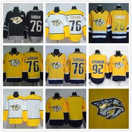 $enCountryForm.capitalKeyWord Canada - Nashville Predators 76 P.K Subban Yellow Home Drift Fashion Stitched NHL Jersey 92 Ryan Johansen Blank Stitched Ice Hockey Jersey