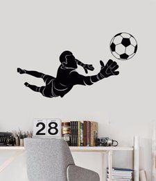 Media Player Live Australia - Sport Wall Sticker Removable Soccer Goalkeeper Player Wall Decal Kids Boys Room Decor Vinyl Sports Art Mural Wall Sticker