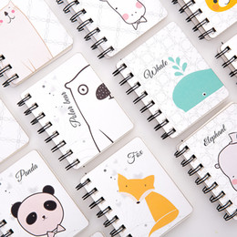 animal mini notepads NZ - Kawaii Cute Cartoon Animal Cover Mini Pocket Spiral Notebook Daily Weekly Planner Note Book Time Organizer School Supplies
