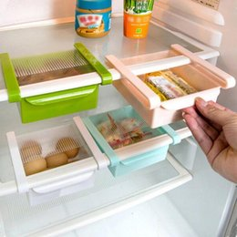 $enCountryForm.capitalKeyWord Australia - New Multi-functional Hook Drawer Slide Fridge Freezer Space Saver Organizer Storage Holder Fruit Snack Kitchen Rack