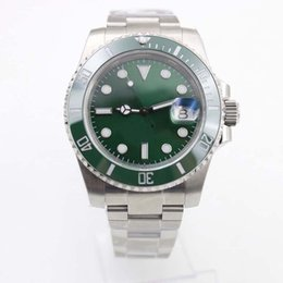 mens sapphire crystal sport watches Australia - Rotatable Stainless Steel Bezel Sapphire Crystal Mens Watch Watches Auto Date R Series Automatic 40MM Luminous Green Dial Sport Wristwatches