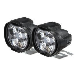 light spotlights motorcycles Australia - 2PCS Motorcycle Spotlight Vehicle Auxiliary Headlamp Fog Lamp 6LED Spotlight with Control Switch Car Night Fog Light