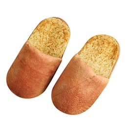 wholesale gifts homes NZ - Women Winter 3D Bread Lovers Adult Slippers Indoor Floor Home Shoes Bedroom Warm Soft Slippers Unisex Funny Gift slipper at home