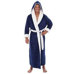 $enCountryForm.capitalKeyWord UK - kimono men Bathrobes Robe Hooded Long Sleeve Couple Men Woman Robe Plush Shawl Kimono Warm Male Fashion Casual Bathrobe Coat
