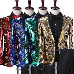 $enCountryForm.capitalKeyWord Australia - Blazer men Sequin formal dress latest coat personality marriage suit men terno masculino wedding suits men's singer stage S- 4XL