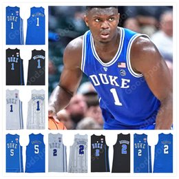 9d3cd641a NCAA Duke Blue Devils College 1 Zion Williamson 2 Cam Reddish 5 RJ Barrett 35  Marvin Bagley III Tatum Irving Stitched Basketball Jersey 2019