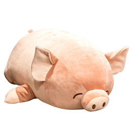 cartoon sleeping children Australia - Super Soft CartoonPig Toy Cute Piggy Pillow Bed Sleeping Hug Doll Ragdoll for children Girl Gift Decoration DY50839