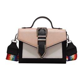 a887e540b9 Rainbow Color Handbags UK - Brand Design Rainbow Straps Shoulder Messenger  Bags Pu Leather Handbag Female