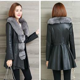 $enCountryForm.capitalKeyWord NZ - Women Winter Fur Collar Outerwear 4XL Overcoat Leather Faux Fur Coat Plus Size Long Jacket Female Casual Faux Fox Parkas Coats